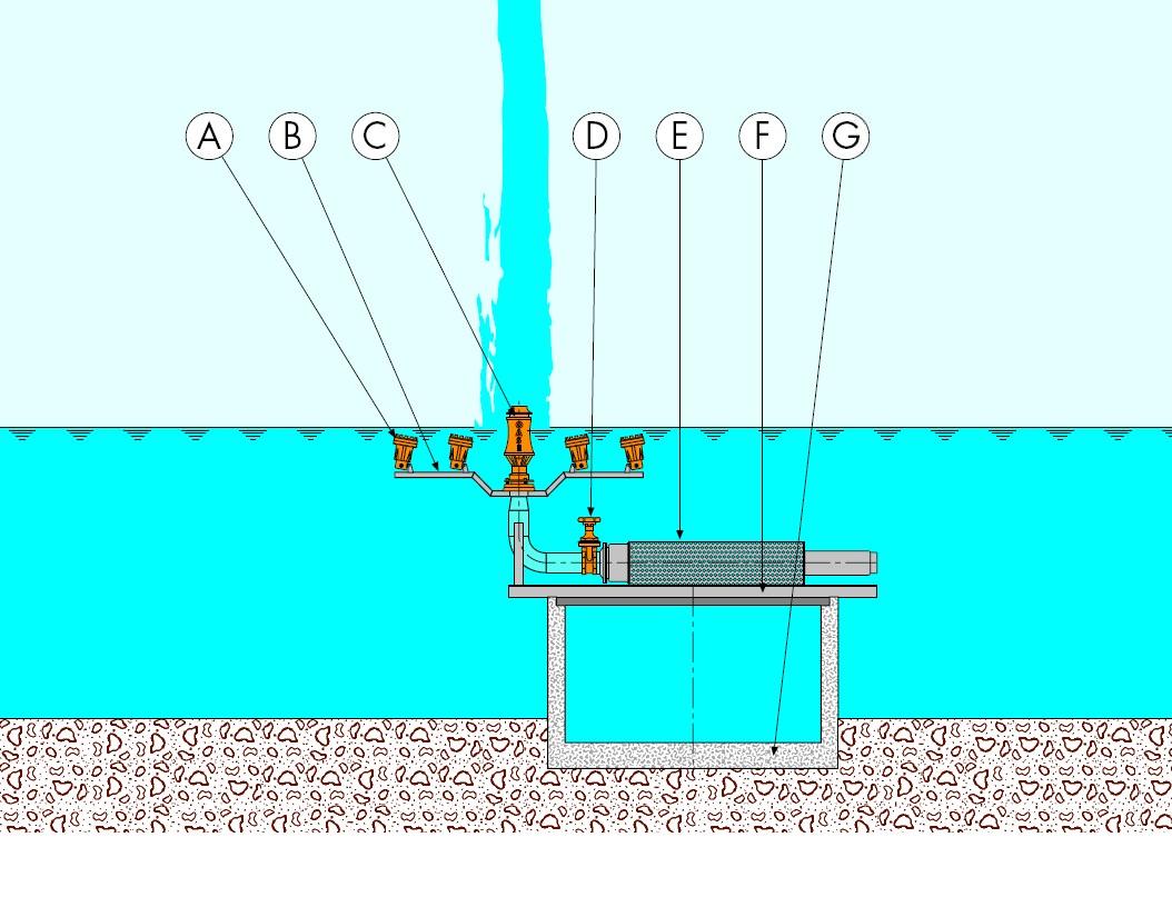 Схема монтажа фонтана